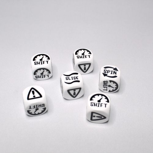 Gaslands  6er Set Skid Dice weiß